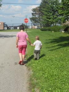 6.26.11 walk with hannah