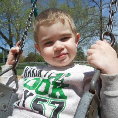 swinging at park