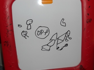A snapshot of Philip's white board easel on Sunday afternoon. What do you see?