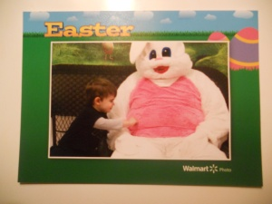 Philip meets the Easter Bunny