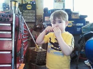 World's shortest mechanic