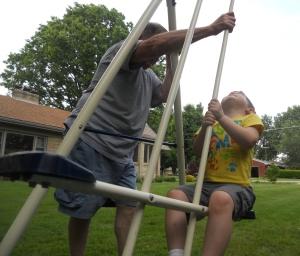 glider with grandpa