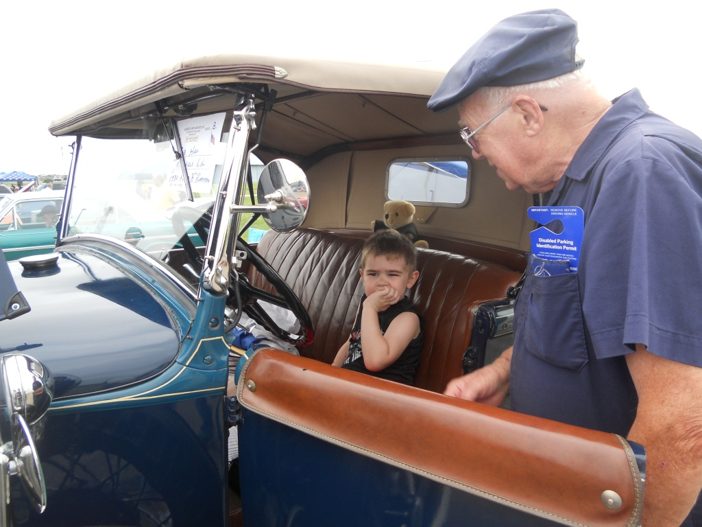 riding in the model a