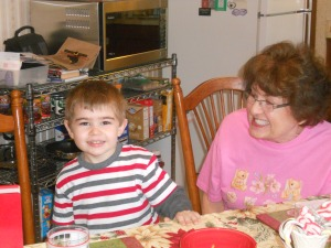 Philip with his great aunt