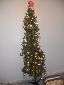 Our little tree. Most of the ornaments are no longer as pictured.